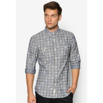 Harga Dockers Long Sleeve Chambray Shirt Fitted Mason Real Indigo