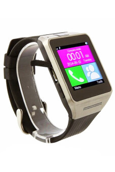 "Harga GV08 Smart Watch 1.5"" Smartwatch for iOS and Android (Black)"