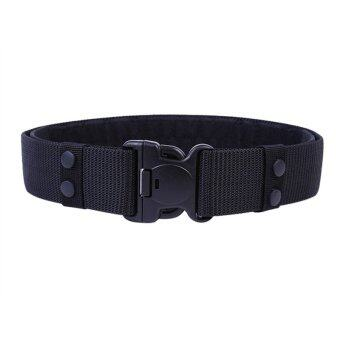 Harga Multifunctional Police Military Training Belt Tactical Adjustable Waist Belts(Black)