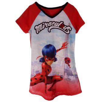 Harga Hequ Hot Lady Lady Short Sleeve Dress miraculous Ladybug Red