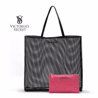 Harga Victoria's Secret Beach Swim Pink Pouch + Bikini Black Beach Bag Tote Bag