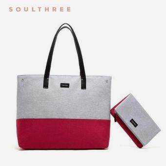 Harga CALVIN KLEIN Euphoria Tote and Clutch Set (Grey/Wine)