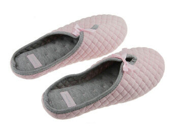 Harga Womens Ladies Girls Spring Autumn Winter Sweet Cozy Cotton Warm Slip-on Clog Slipper Slide Sandals Mules Lightweight Antiskid Home House Indoor Bedroom Bath Spa Flat Scuff Slippers Footwear Shoes(Pink)