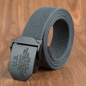 Harga Military Belt Outdoor Tactical Belt Men & Women High Quality Belts For Jeans Female Male Canvas Straps Dark Grey