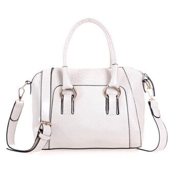 Harga Kstyle Faux Crocodile Leather Handbags (White)