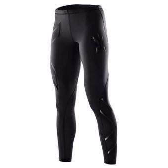Harga men compression fitness tights male pants Joggers Superelastic stretch pants breathable Joggers trousers Black