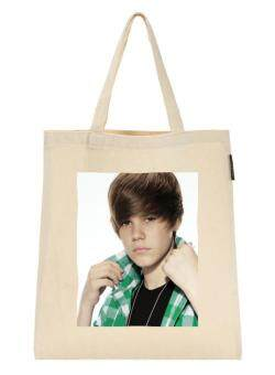 Harga Cotton Canvas Shopping Bag Justin Bieber (6) For Shoulder Tote Shopper Bag Creamy White Eco Friendly Gift
