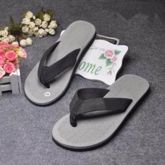 Harga 2017 new summer men's beach sandals slippers slip waterproof Men Outdoor Beach Casual Flip Flops GREY