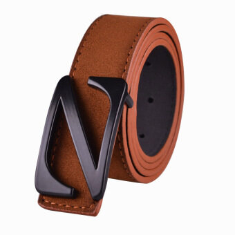Harga Fashion Belts Unisex Z Belt - Brown