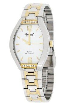 Harga Omax Men's Silver/Gold Stainless Steel Strap Watch AW0103SG-WH