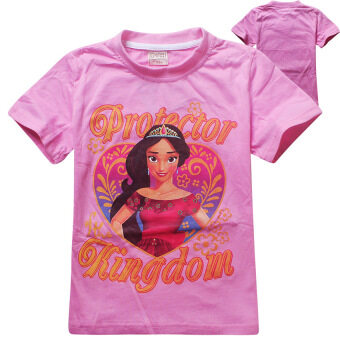 Harga Elena of Avalor Girls' 4-12 Years Old 105-155cm Body Hight Cotton Cartoon T-shirts Tops(Color:Pink)