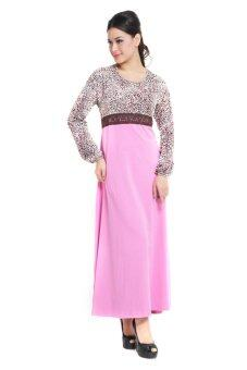 Harga Aqeela Muslimah Wear leopard with Lace Empire Jubah Lilac