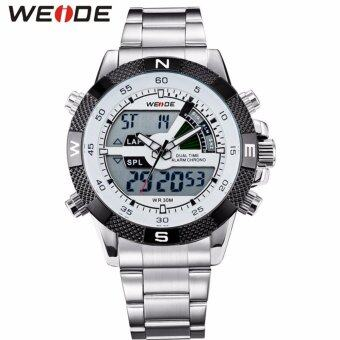 Harga Weide Men's Silver Stainless Steel Watch - WH 1104G