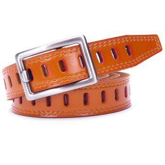 Harga Boshiho Fashion Women's Ms lady Leather Belts Apparel Belt for Women Custom Fit Buckle Waist Belt(Tan)