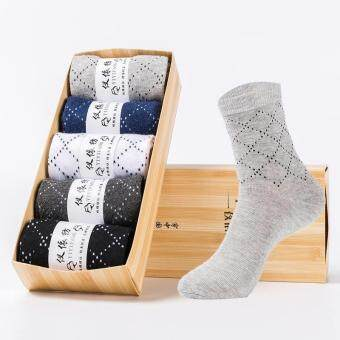 Harga Buy Buy Shop 5 Pairs Men Socks Sport Business Fashion Casul Stocking Assorted Stripes Males Comfortable Cotton