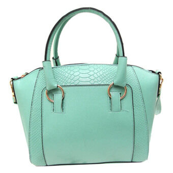 Harga Kstyle Faux Crocodile Leather Handbags (Green)