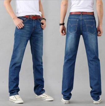 Harga Men's Casual Wild Straight Slim Jeans Trousers