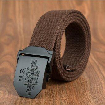 Harga Arrival Tactical Belt Men High Quality Outdoor Casual Canvas Belts Fashion Strap Women Men Belts Coffee