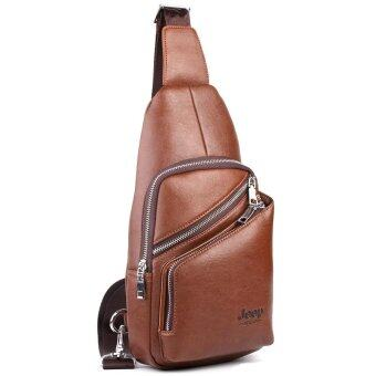 Harga Jeep Men's Leisure Chest Pack Crossbody Bag Shoulder Bag Outdoor Sports Handbag (Khaki)
