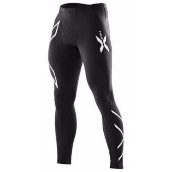 Harga men compression fitness tights male pants Joggers Superelastic stretch pants breathable Joggers trousers Silver