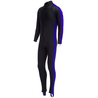 Harga MiniCar Unisex Watersport Sunscreen Keep Warm Jumpsuit Diving Suit Wetsuit Deep blue size:XL(Color:Deep blue)