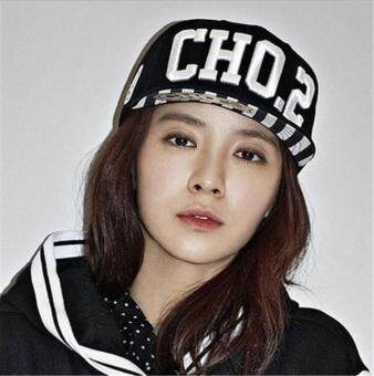 Harga Women/Men cap CHO Korea running man Song Ji-hyo Hip hop baseball hat cartoon cap for Unisex Color BLACK