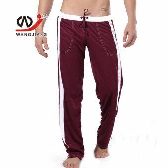 Harga Men's Sport Gym Run Long Pants Yoga Male Athletics Fitness Bottoms Trousers(Coffee)