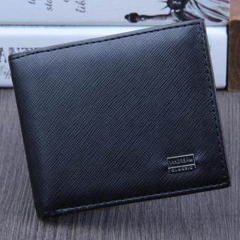 Harga Men Bifold Business Leather Wallet ID Credit Card Holder Purse Pockets Black