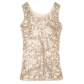 Harga Fancyqube Gold Sequined Vest Gold