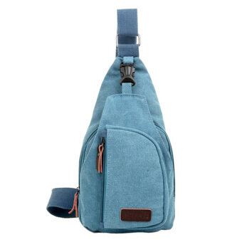 Harga Moonar Men Satchel Backpack bag Messenge Bag(Blue)