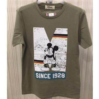 Harga Disney Mickey MIC-MT-16/A Olive Effects Printed Short Sleeve Tee