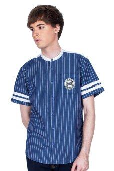 Harga HI STYLE Young Fresh Striped Baseball Shirt