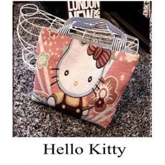 Harga 211122BPC [ READY STOCK ] Mickey Mouse / Hello Kitty /Winnie The Pooh / Doraemon - Tote bag Shoulder Bag