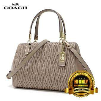 Harga Coach 49723 Madison Gathered Twist Mini Satchel (Stone)
