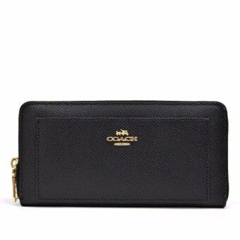 Harga Coach Accordion Zip Wallet In Leather (BLACK)