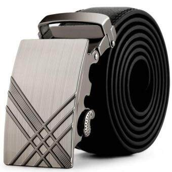 Harga Men Leather Automatic Buckle Belts Fashion Waist Strap Belt Waistband