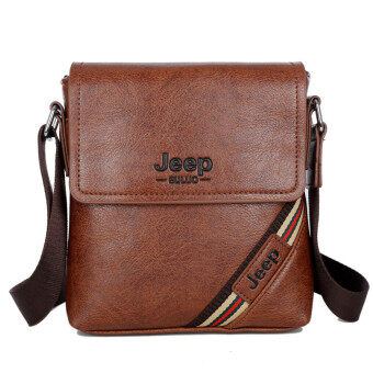 Harga New Leather Bag Mini Shoulder Bag Messenger Bag Backpack Man Purse Tablet Computer Business Casual Crossbody Bag (Dark Brown)