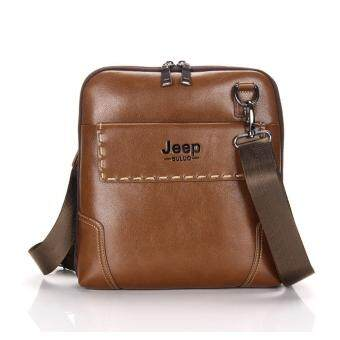 Harga JEEP Men's vertical section New Europe and the United States handbag men casual shoulder Messenger bag (Khaki)