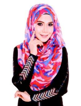 Harga Armelia Wide Shawl in Pink and Blue