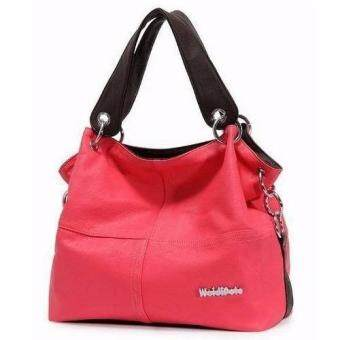 Harga Weidi Polo PU Leather Tote Bag (Red)