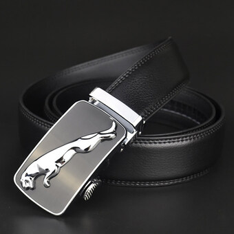 Harga Fashion NEW belt Genuine leather men alloy Luxury jaguar belt business 3.5cm belts for men