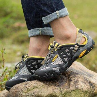 Harga YAER Mens Sport Outdoor Mesh Breathable Hiking Shoe - Intl