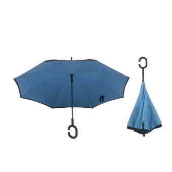 Harga 4CONNECT High Quality Unique Inverted Inside-Out Umbrella With C-Hook Handle - BLUE