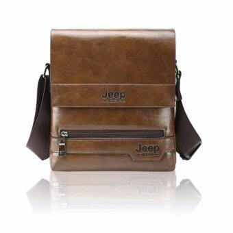 Harga Jeep Leather Crossbody Bag Shoulder Bag (Khaki)