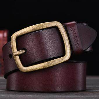 Harga Mens Cow Genuine Leather Man Belt Luxury Strap Male Belts for Men New Fashion Vintage Pin Buckle Designer Belt Brand