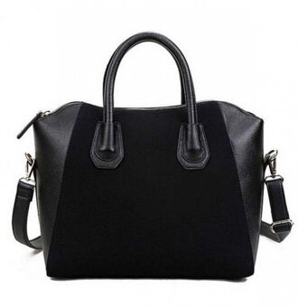Harga MonCoeur Elegant Faux Leather Handbags (Black)