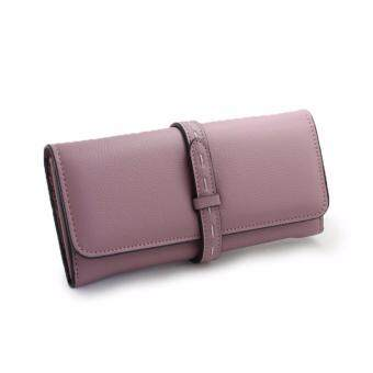 Harga Polly Molly Trendy 3fold Premium PU Leather Wallet 4226_Pastel Purple