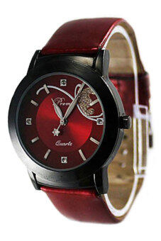 Harga Blue lans Leather Watch (Red)