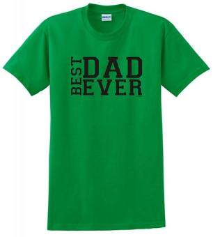 Harga Summer Hot Tshirts Best Dad Ever Father's Day T-Shirt Men Cotton Clothing Casual O-neck TShirts Green