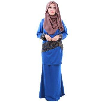 Harga PH Fashion Laila Baju Kurung (Blue)